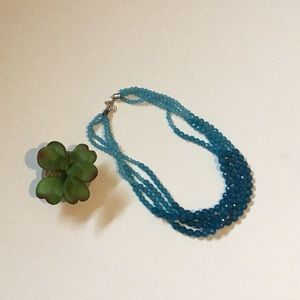 Jewelry - 🆕 Turquoise ombre 4 strand necklace